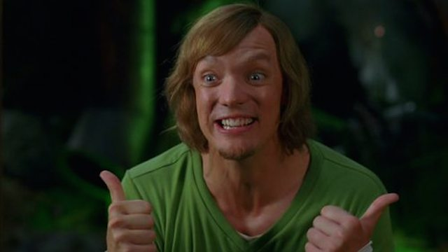 video matthew lillard does shaggy voice for crying girl